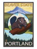 Beaver & Mt Hood  Portland  Oregon