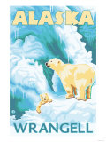 Polar Bears &amp; Cub  Wrangell  Alaska