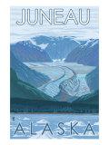 Glacier Scene  Juneau  Alaska
