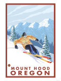Downhhill Snow Skier  Mount Hood  Oregon