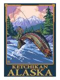 Fly Fishing Scene  Ketchikan  Alaska
