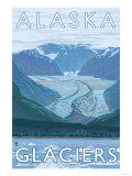 Large Glacier Scene  Alaska