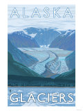 Large Glacier Scene  Alaska