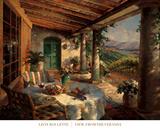 View from the Veranda Reproduction d'art par Leon Roulette