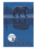 Bear in Moonlight  Bend  Oregon