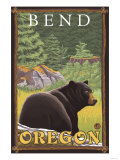 Black Bear in Forest  Bend  Oregon