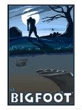 Big Foot walking through Golf Course