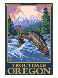 Fly Fishing Scene  Troutdale  Oregon