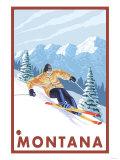 Downhhill Snow Skier  Montana