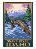 Fly Fishing Scene  Snake River  Idaho