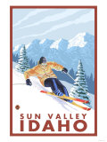 Downhhill Snow Skier  Sun Valley  Idaho