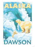 Polar Bears &amp; Cub  Dawson  Alaska