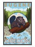 Beaver & River  Eugene  Oregon