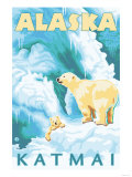 Polar Bears &amp; Cub  Latouche  Alaska
