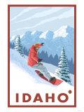 Snowboarder Scene  Idaho