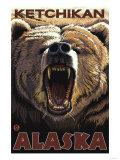 Bear Roaring  Ketchikan  Alaska