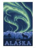Northern Lights  Sitka  Alaska