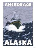 Fishing Boat Scene  Anchorage  Alaska