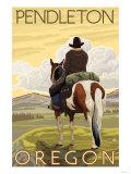 Cowboy & Horse  Pendleton  Oregon