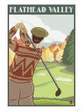 Golfer Scene  Flathead lake  Montana