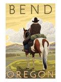 Cowboy & Horse  Bend  Oregon