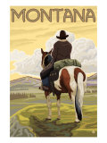 Cowboy &amp; Horse  Montana