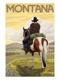 Cowboy & Horse  Montana