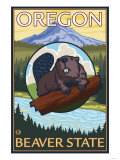 Beaver and Mount Hood Scene