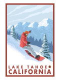 Snowboarder Scene  Lake Tahoe  California