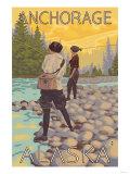 Women Fly Fishing  Anchorage  Alaska