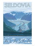 Glacier Scene  Seldovia  Alaska