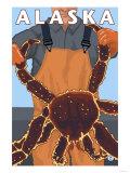 King Crab and Fisherman  Alaska