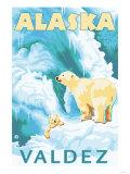 Polar Bears & Cub  Valdez  Alaska