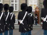 Changing of the Guard  Amalienborg Palace  Copenhagen  Denmark  Scandinavia  Europe