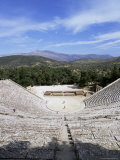 Ancient Greek Theatre  Epidaurus  Unesco World Heritage Site  Peloponnese  Greece  Europe