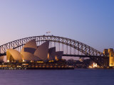 Opera House and Harbour Bridge  Sydney  New South Wales  Australia  Pacific