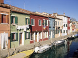 Houses on the Waterfront  Burano  Venice  Veneto  Italy  Europe