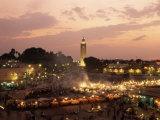 Place Jemaa El Fna (Djemaa El Fna)  Marrakesh (Marrakech)  Morocco  North Africa  Africa