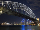 Opera House and Harbour Bridge at Night  Sydney  New South Wales  Australia  Pacific