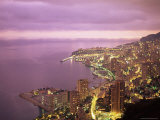Evening View Over Monte Carlo  Monaco  Mediterranean  Europe