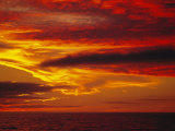Dramatic Sky and Red Clouds at Sunset  Antarctica   Polar Regions
