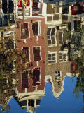 Reflection of Amsterdam Houses in Canal  Amsterdam  the Netherlands (Holland)  Europe