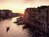 The Grand Canal at Sunset  Venice  Unesco World Heritage Site  Veneto  Italy  Europe