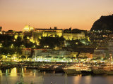 The Harbour and Prince's Palace at Sunset  Monte Carlo  Monaco  Cote d'Azur  Mediterranean  Europe