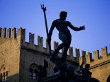 Nettuno (Neptune) Statue  Piazza Maggiore  Bologna  Emilia Romagna  Italy  Europe