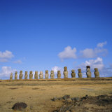 Line of Statues  Ahu Tongariki  Easter Island  Chile