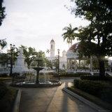 View Across Parc Central  Cienfuegos  Cuba  West Indies  Central America