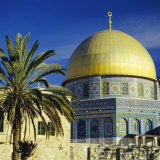 The Dome of the Rock  Muslim Shrine on Temple Mount  Jerusalem  Israel