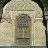 Inside Bou Inania Medrassa Courtyard  Fez  Morocco