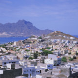 The Main Port of Mindelo on the Island of Sao Vicente  Cape Verde Islands
